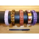 Wirstband with mookaite elements, rectangular, 10 x 10 mm, 1 piece