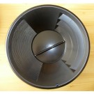 """Gold Pan 12"""" plastic, fine grooves"""