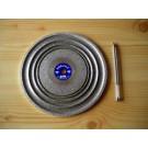 "Cabochon diamond polishing disc 8"", grain 1800"