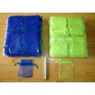 "Jewellery bags ""Organza"" green 100 piece"