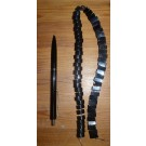 Bead string with 10 mm hematite half moon shaped beads, 45 cm long, 1 piece