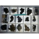 Schorl xx (Tourmaline), Smoky Quartz, Descloizite (TOP-specimen!!), Namibia, 1 flat