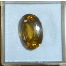 Zircon facetted 15 mm, Sri Lanka