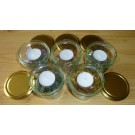 Glass Candle Ligth Holder with Pyrite chips (200g), 1 piece