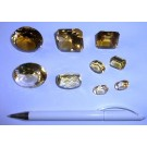 Citrine, facetted, Zambia, 1 lot