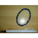 Wrist band with sodalite, 6 mm spheres 1 piece