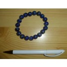 Wrist band with real lapis lazuli, spheres 10 mm 1 piece
