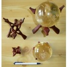 Cobra wooden sphere stands, foldable, 20 cm, 1 piece