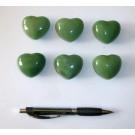 Heart made of aventurine quartz, untreated, app. 4 cm, 10 pieces