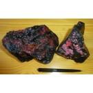 Rhodonite + Pyroxmangite; Silverton, CO, USA; NS