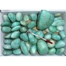 Amazonite, polished, Madagascar, 1 kg
