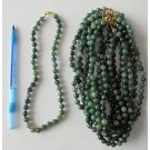 Necklace with 8 mm moss agate spheres, 45 cm long, 1 piece