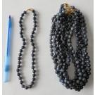 Necklace with 8 mm dumortierite spheres, 45 cm long, 1 piece