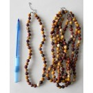 Necklace with 8 mm mookaite spheres, 45 cm long, 1 piece