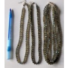 Necklace with 6 mm labradorite spheres with sterling silver lock, 45 cm long, 1 piece