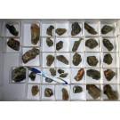 Actinolite throughout gemmy quartz, Madagascar, 1 flat