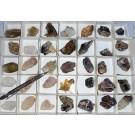 Amethyst, etc. X/xx, Brandberg, Namibia, 1 flat with 35 pieces