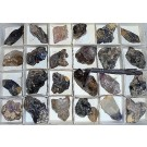 Amethyst-sceleton X/xx, Brandberg, Namibia, 1 flat with 24 pieces