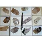 Amethyst (Enhydro) X, Brandberg, Namibia, 1 flat with 12 pieces