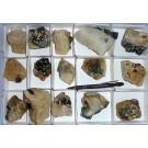 Fluorite xx, Uis, Namibia, 1 flat with 15 specimen