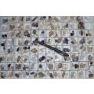 Mountain Quartz, Amethyst X/xx, Brandberg, Namibia, 1 flat with 96 pieces