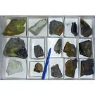 Zippeite, Pascoite, Metamunierite xx, D-Day Mine, UT, USA, 1 flat