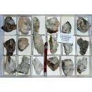 Scheelite xx/(xx), Powellite, Chalcedony, 3 Muskateers Mine, AZ, USA, 1 flat (UV!)