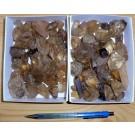 Citrine + Smoky Quartz, gemmy, Madagascar, 750 g