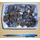 Quartz, clear with green tourmaline inclusions, Madagascar, 500 g