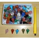 Stone pendulum pendant, small, mixed, 10 pieces