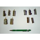 Amethyst-slice, electroplated, (golden/silver), 10 pieces