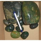 Jaspis, green, polished, Madagascar, 1 kg