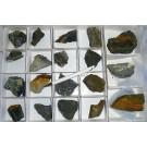 Vanadates (Rossite, Pascoite, Corvusite, + many rare species!), Sunday # 2 Mine, CO, USA, 1 flat