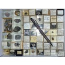 Mixed minerals from Saxony, Germany, 1 lot of 54 pieces.