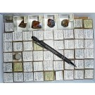 Mixed minerals from Friedrich-Christian Mine, Wildschappach, Black Forest, Germany, 1 lot of 53 pieces.