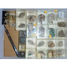 Mixed minerals from Silberbrünnle Mine, Gengenbach, Black Forest, Germany, 1 lot of 29 pieces.