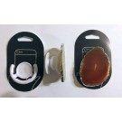 Cell phone holder (foldable) with agate slice (natural - orange), 1 piece