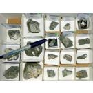 Tuperssuatsiaite + Sphalerite xx, Aris, Windhoek, Namibia; 1 lot of 80 specimen, large flat