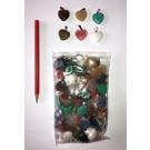 Gemstone pendant (necklace pendant) heart 20mm (10 different kinds) bag of 100 pcs.