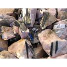 Tourmaline (Schorl in rose quartz), Trekkoppie, Namibia, 1 kg