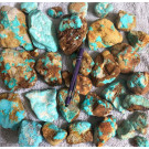 Turquoise, large, selected, Armenia, 1 kg