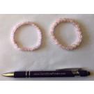 Wirst band for children, rose quartz, 6 mm spheres, 1 piece