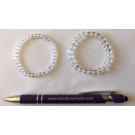 Wirst band for children, mountain quartz, 6 mm spheres, 1 piece