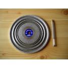 "Cabochon diamond polishing disc 8"", grain 0600"