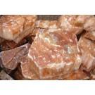 Selenite, orange (gypsum, alabaster) Morocco, 100 kg