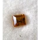 Glass doublet rectangular, yellow, 4 mm