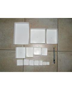 "Fold up boxes SB 35, 2"" x 2"", fit 35 to a flat, 1000 pcs."