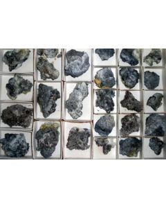 Challacolloite, Hephaistosite, Cannizzarite, Bismuthinite xx, Vulcano, Lipari Islands, Italy, 1 flat