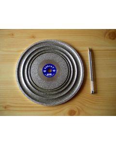 "Cabochon diamond polishing disc 8"", grain 0080"