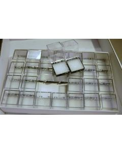 Perky boxes 1 1/4 inch cube, 1 carton of 672, with styrofoam inserts